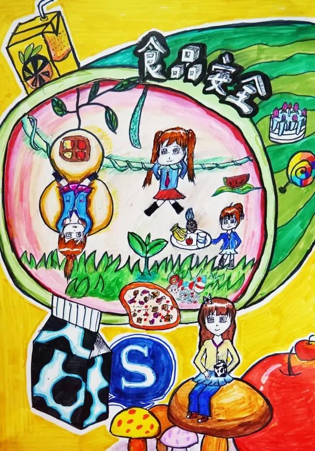 深圳创建国家食品安全城市宣传画创作大赛快乐涂画