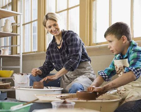 彩色斑马兴趣陶艺班