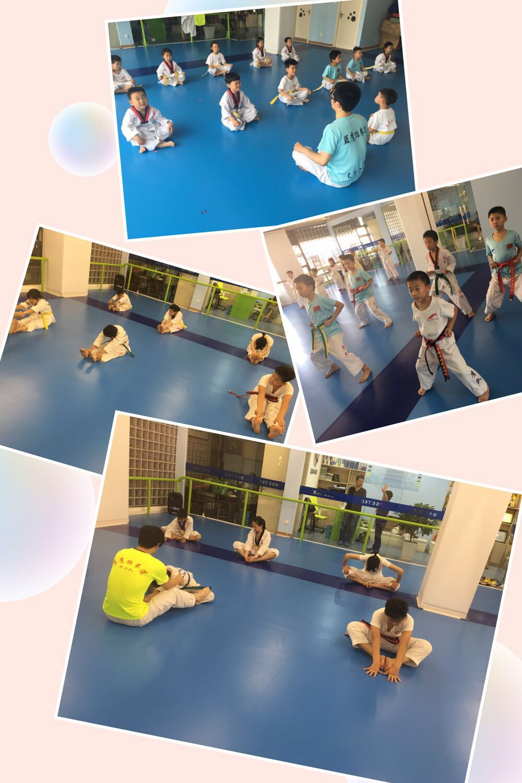 上海蓝鹰跆拳道暑期班开始啦