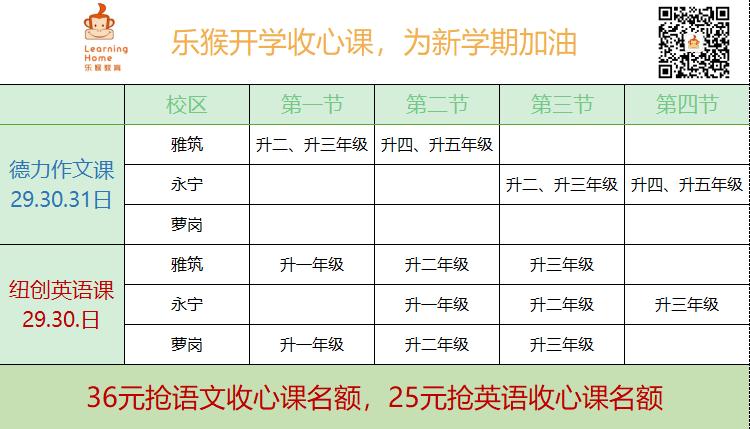乐猴德力作文语文暑假收心课(二至五年级)